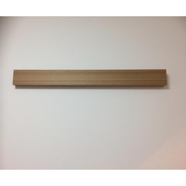 MUJI (無印良品)(ムジルシリョウヒン)の無印良品 長押・幅88㎝/ナチュラル  壁につけられる家具 インテリア/住まい/日用品の収納家具(リビング収納)の商品写真