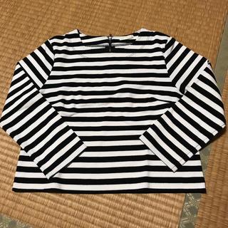 ジーユー(GU)のGU ジーユー ボーダー 白黒 七分袖 Tシャツ(Tシャツ(長袖/七分))