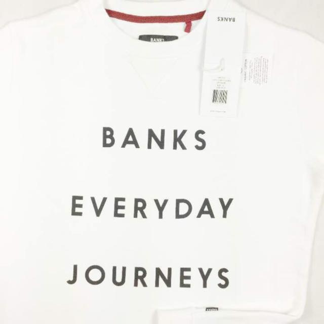 Ron Herman(ロンハーマン)の正規品 BNTP5 S 白 バンクスEveryday Journeysトレーナー メンズのトップス(スウェット)の商品写真