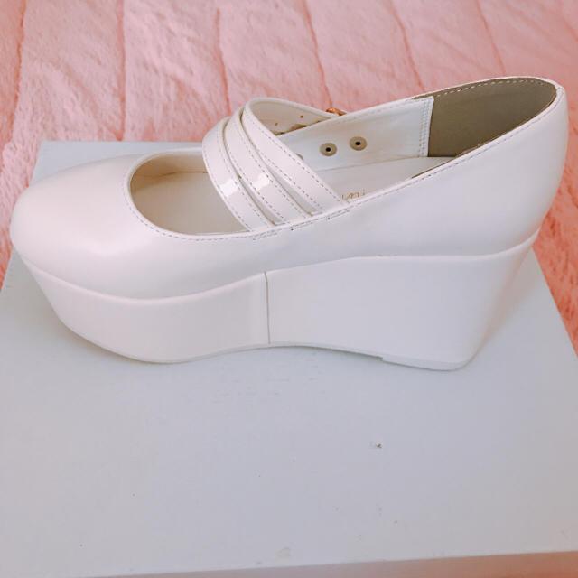 WEGO(ウィゴー)の厚底 パンプス 白 レディースの靴/シューズ(ハイヒール/パンプス)の商品写真
