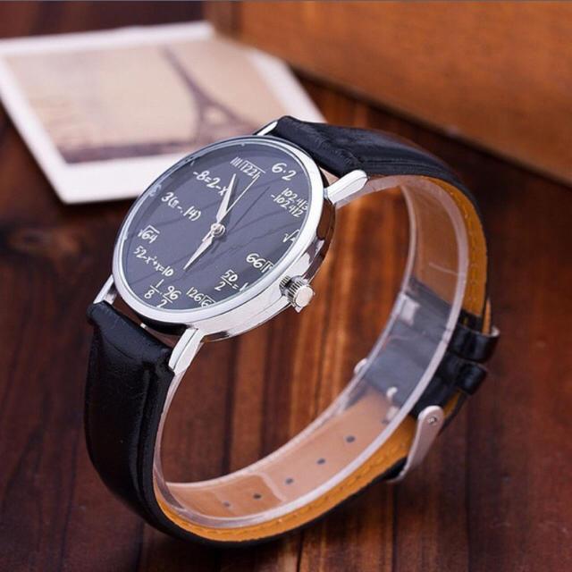【送料無料】 数式時計  ブラック  メンズの時計(腕時計(アナログ))の商品写真