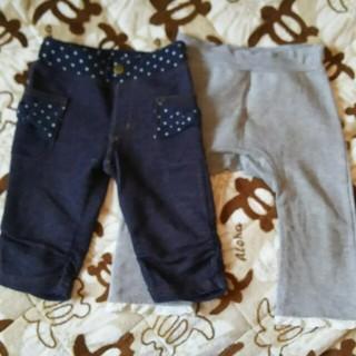 ズボン2枚セット  80(パンツ)
