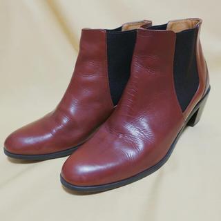 オデットエオディール(Odette e Odile)のサイドゴア本革ブーツ(ブーツ)