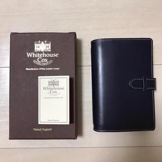 ホワイトハウスコックス(WHITEHOUSE COX)の美品 ホワイトハウスコックス システム手帳 ネイビー(手帳)