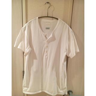 ヴィスヴィム(VISVIM)のvisvim ヘンリーネックTシャツ 白(Tシャツ/カットソー(半袖/袖なし))