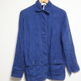 ディフュジオーネテッシレ(Diffusione Tessile)のかわいいボタンのデニム風リネンシャツ 値下げしました(シャツ)
