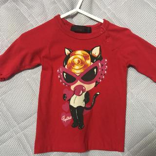 ヒステリックミニ(HYSTERIC MINI)のヒステリックミニ七分丈猫耳Tシャツ70正規品(シャツ/カットソー)