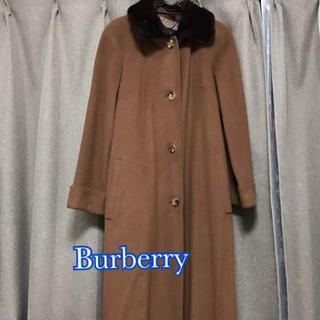 バーバリー(BURBERRY)のバーバリー コート ロングコート レディース 40 L キャメル ファー(毛皮/ファーコート)