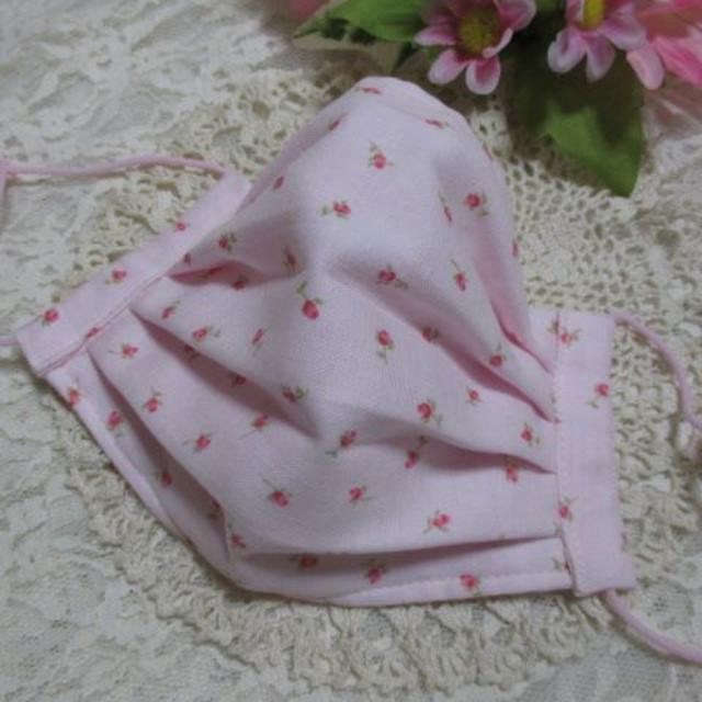 小花柄(ピンク)★大人用プリーツマスク★ハンドメイド ハンドメイドのファッション小物(その他)の商品写真