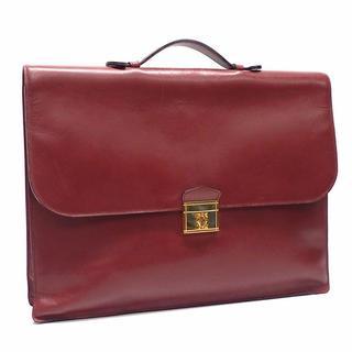 カルティエ(Cartier)のA254 中古 カルティエ カルティエ マストライン ビジネスバッグ ボルドー(ビジネスバッグ)