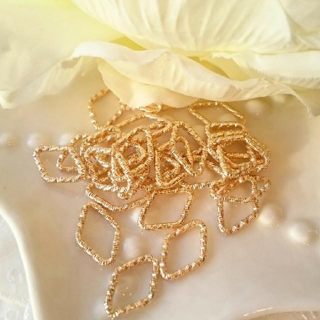 デザインカン ゴールド ダイヤ型 ハンドメイドの素材/材料(各種パーツ)の商品写真