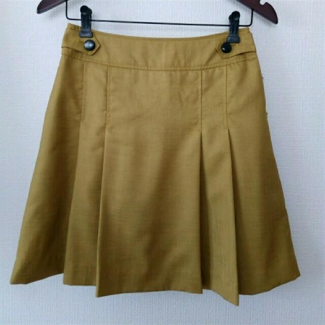 pour la frime(プーラフリーム)のマスタードイエローのスカート レディースのスカート(ひざ丈スカート)の商品写真