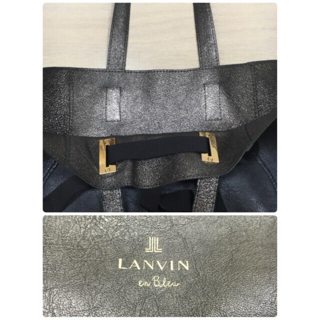 LANVIN en Bleu(ランバンオンブルー)のランバンオンブルー ♡ リボン トートバッグ レディースのバッグ(トートバッグ)の商品写真