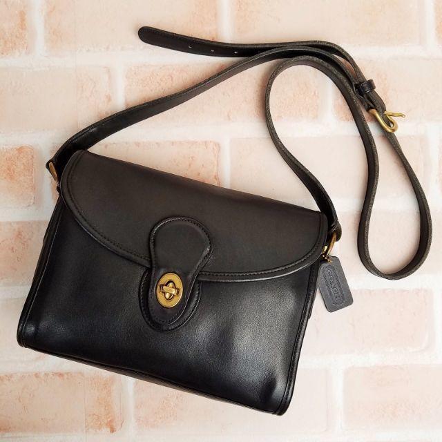 COACH(コーチ)のオールドコーチ ☆USA製 レザー ショルダーバッグ ブラック レディースのバッグ(ショルダーバッグ)の商品写真