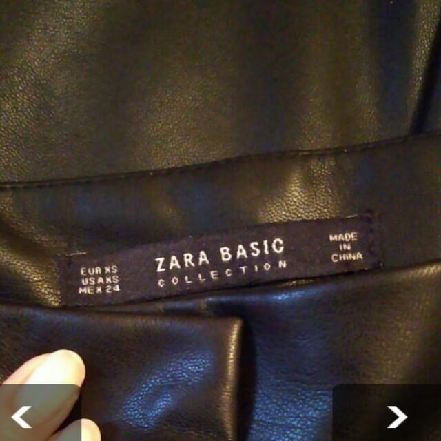 ZARA(ザラ)のZARA 合皮 フェイク レザー 黒 タック入り レディースのパンツ(キュロット)の商品写真