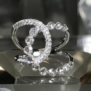 ダイヤモンド ローズカット1.00ct k18WG リング☆43万円(リング(指輪))