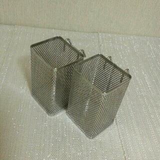 ムジルシリョウヒン(MUJI (無印良品))の無印良品のカトラリースタンド磁器4点とステンレス小2個と野田ホーロー2個セット(収納/キッチン雑貨)