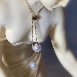 オリジナル(Original)の真珠 パール ネックレス ボールチェーン あこや 和珠 K18YG(ネックレス)