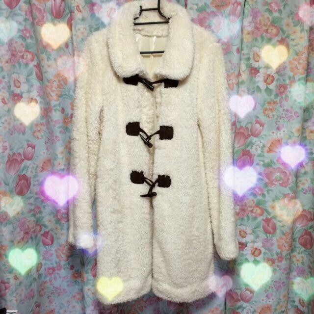 PICCIN(ピッチン)のPICCIN♡ホワイトファーコート♡ レディースのジャケット/アウター(毛皮/ファーコート)の商品写真
