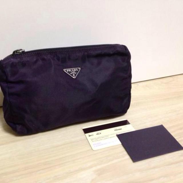 PRADA(プラダ)の【Y】PRADA ポーチ☆パープル レディースのファッション小物(ポーチ)の商品写真