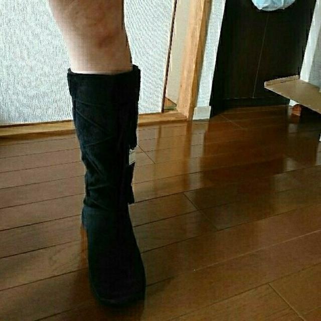 未使用 ブーツ 黒  24.5cm レディースの靴/シューズ(ブーツ)の商品写真