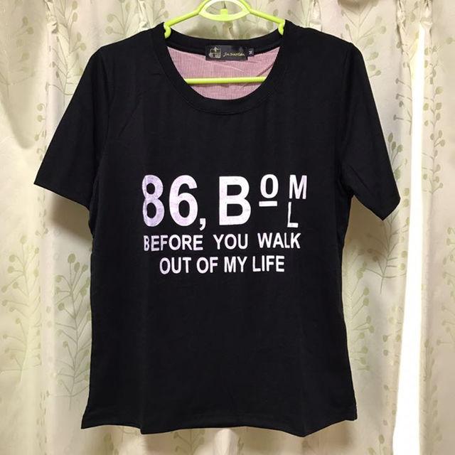 半袖Tシャツ ブラック レディースのトップス(その他)の商品写真