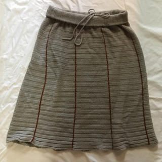 ツモリチサト(TSUMORI CHISATO)のツモリチサトアルパカニットスカート(グレー)(ロングスカート)