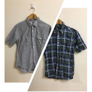 ユニクロ(UNIQLO)の2枚セット‼︎ユニクロ×wegoシンプル・チェック柄半袖Tシャツメンズ(シャツ)