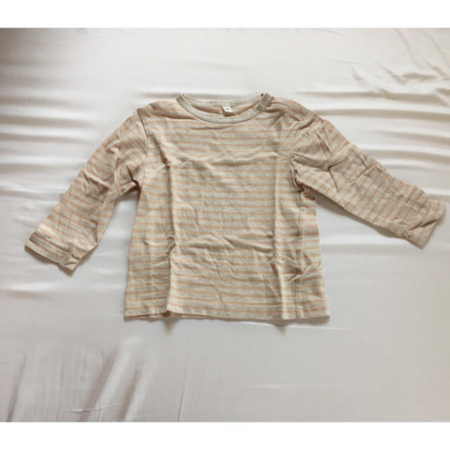 MUJI (無印良品)(ムジルシリョウヒン)の無印良品 子供服 ボーダーカットソー キッズ/ベビー/マタニティのベビー服(~85cm)(シャツ/カットソー)の商品写真