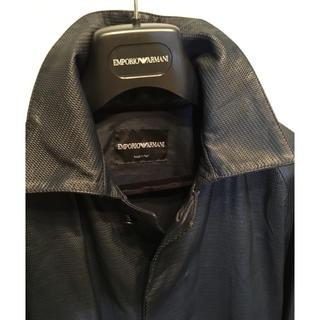 エンポリオアルマーニ(Emporio Armani)のEMPORIO ARMANI レザージャケット セミロング(レザージャケット)