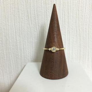 閉店SALE K18  ダイヤ0.15キャラット リング ミルウチ エタニティ(リング(指輪))