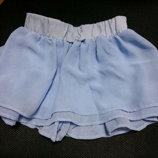 ジーユー(GU)のGU☆110cm三段チュールレースキュロットスカート(スカート)