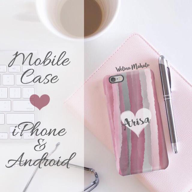 アディダス iphone7 ケース シリコン | 名入れ可能❤︎Candyシリーズ①スマホケース❤︎iPhone以外も対応機種多数の通販 by welina mahalo|ラクマ