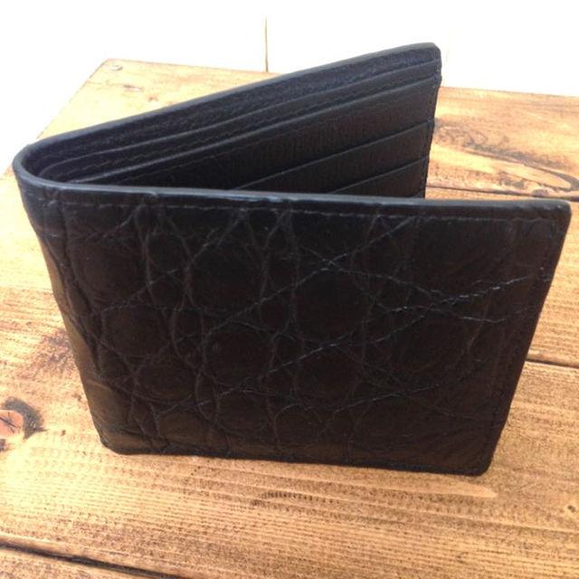 6ebfa9463127 SALE 新品未使用 Genuine Crocodile Skin 二つ折り財布 メンズのファッション小物(折り