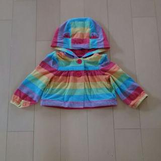 ベビーギャップ(babyGAP)の専用です♪ babyGAP レインボー くま耳パーカー 羽織り ショートコート(その他)