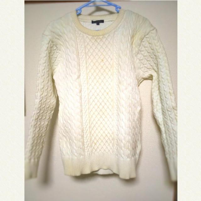 Avail(アベイル)の白ニット メンズのトップス(ニット/セーター)の商品写真