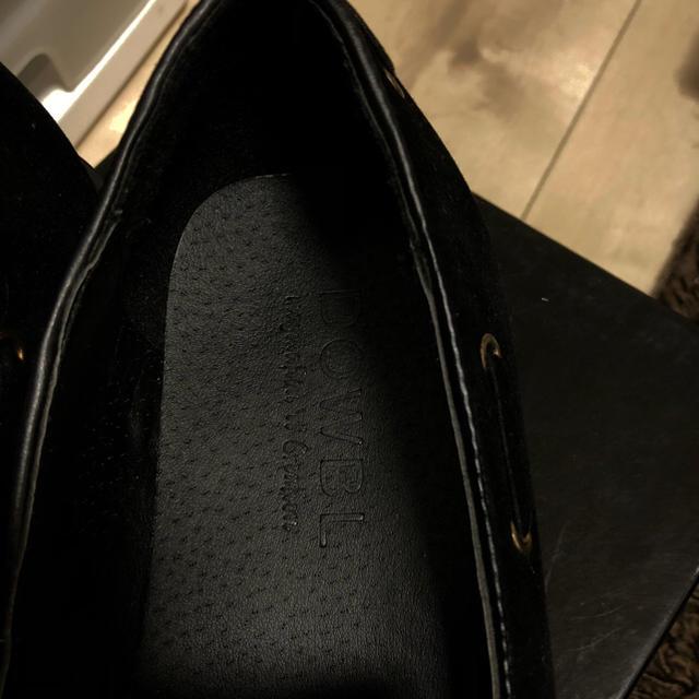 DOWBL(ダブル)の最終値下げ! DOWBL 靴 黒 新品 メンズの靴/シューズ(デッキシューズ)の商品写真