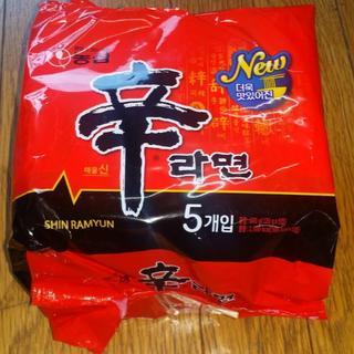 韓国版 辛ラーメン 120g 5個セット 1袋 20180702(麺類)