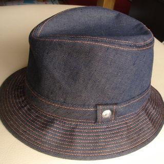 エルメス(Hermes)のHERMES エルメス 帽子 麻デニムハット 正規 レア サイズ59 フランス製(ハット)