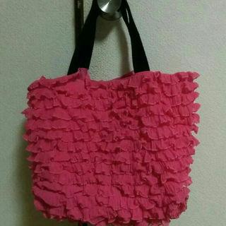 マーキュリーデュオ(MERCURYDUO)のマーキュリーデュオ フリルバッグ エコbag ピンク 鞄 ママバッグ 子供(マザーズバッグ)