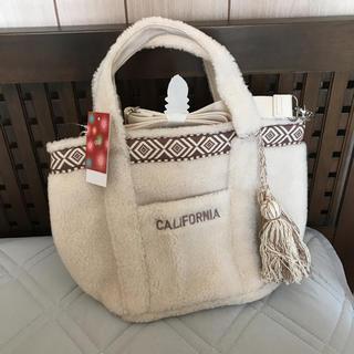シマムラ(しまむら)の新品 CALIFORNIA ボア トートバッグ(トートバッグ)