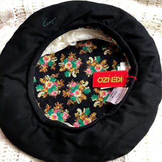 ケンゾー(KENZO)の【タグ付き】KENZO 黒 ベレー帽(ハンチング/ベレー帽)