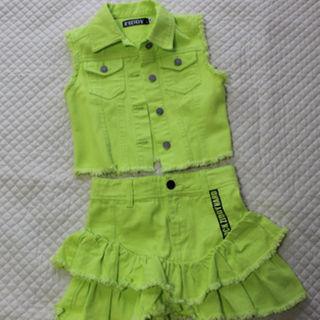 ジディー(ZIDDY)の1回着用 ZIDDY かわいいベスト&スカート140 ジディ ダンス(スカート)