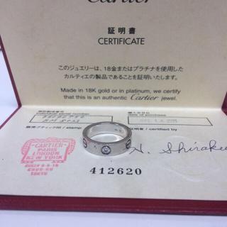 カルティエ(Cartier)のカルティエ ラブリング プラチナ ダイヤモンド1個【正規品】(リング(指輪))