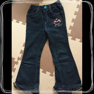 ブーツカットジーンズ 裾フリル 120 新品(パンツ/スパッツ)