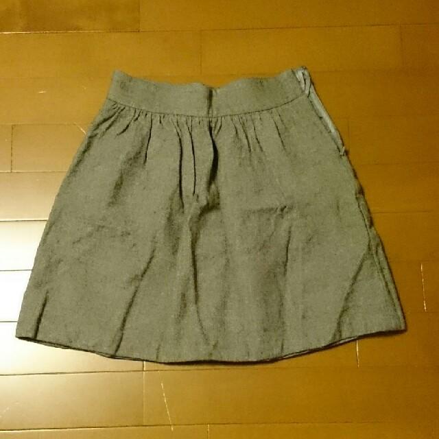 UNIQLO(ユニクロ)のユニクロ グレー スカート レディースのスカート(ひざ丈スカート)の商品写真