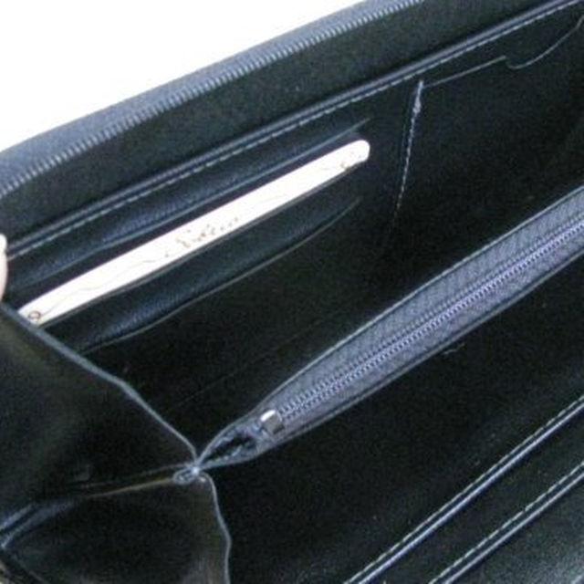 合皮ラウンド財布 RL13-6(ブラック) メンズのファッション小物(その他)の商品写真