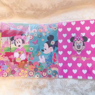 ディズニー(Disney)のディズニー ミニー クリアファイル A4 ピンク(クリアファイル)