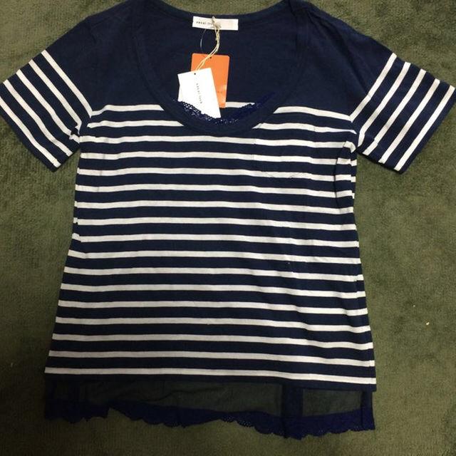 sacai luck(サカイラック)の新品タグ付⭐︎sacai luck 重ね着風ボーダーTシャツ レディースのトップス(Tシャツ(半袖/袖なし))の商品写真
