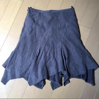 ブラウン 秋スカート(ひざ丈スカート)